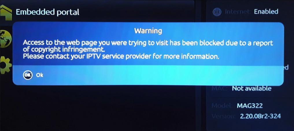 SERVEUR IPTV BLOQUE  PAR INFOMIR