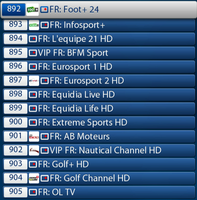 ABONNEMENT IPTV MEGA PREMIUM FRANCE SPORTS2