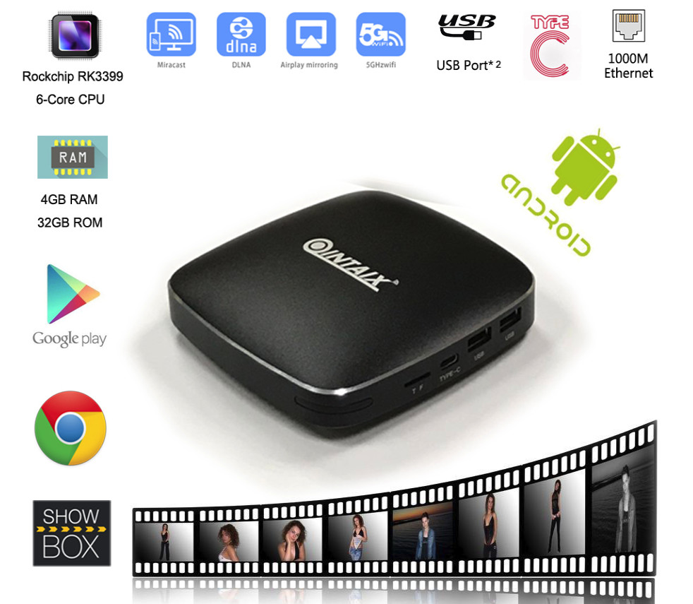 Q39 tv box RK3399 6 Cores android6.0