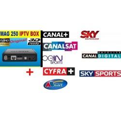 MAG 250 + ABONNEMENT IPTV 12 MOIS + 1 CLE USB 32 Go -