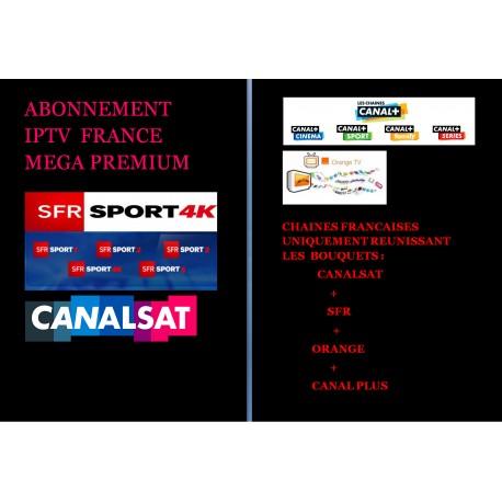 ABONNEMENT IPTV FRANCE MEGA PREMIUM