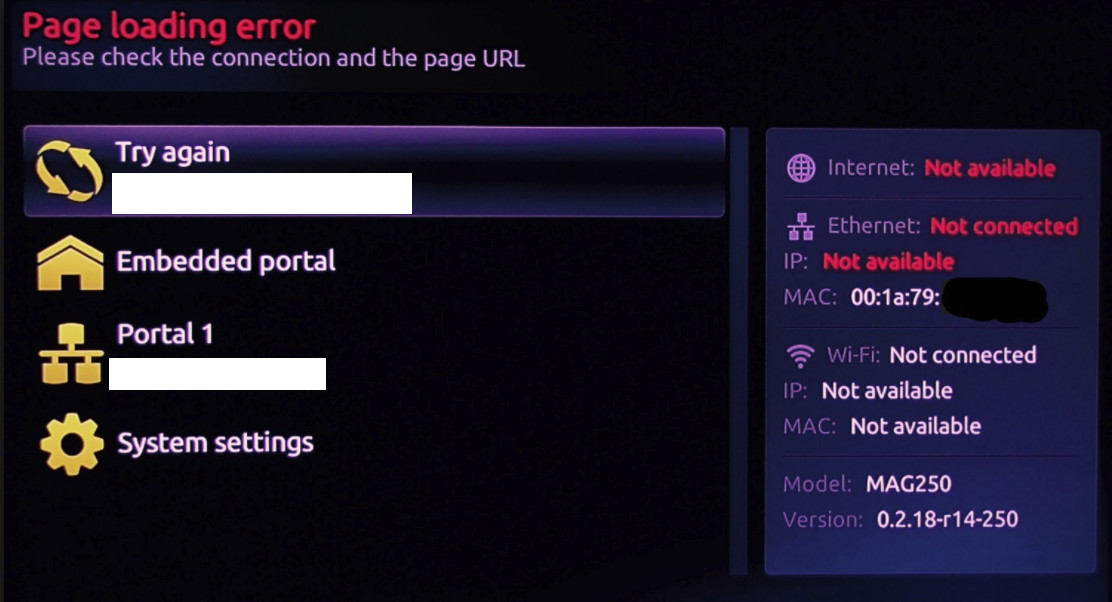 PAGE LOADING ERROR MAG HOW TO REPAIR IT